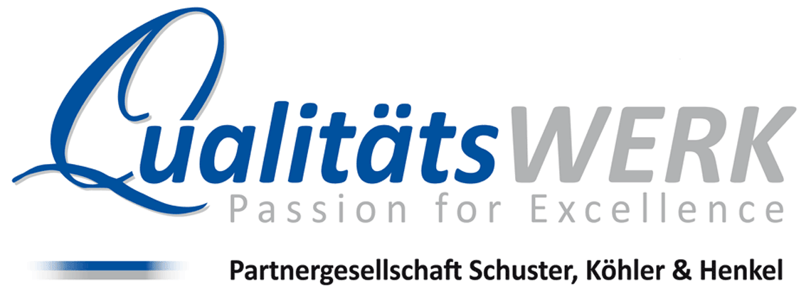 Logo: QualitätsWERK - Passion for Excellence